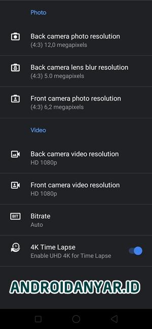 Pengaturan Resolusi Kamera GCAM trCamera by tigr