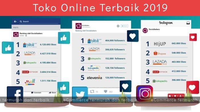 5 Rekomendasi Toko Online Indonesia Termurah, Terlengkap dan Terbaik 2019