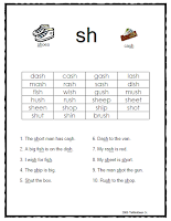 SH Digraph Word and Sentence List