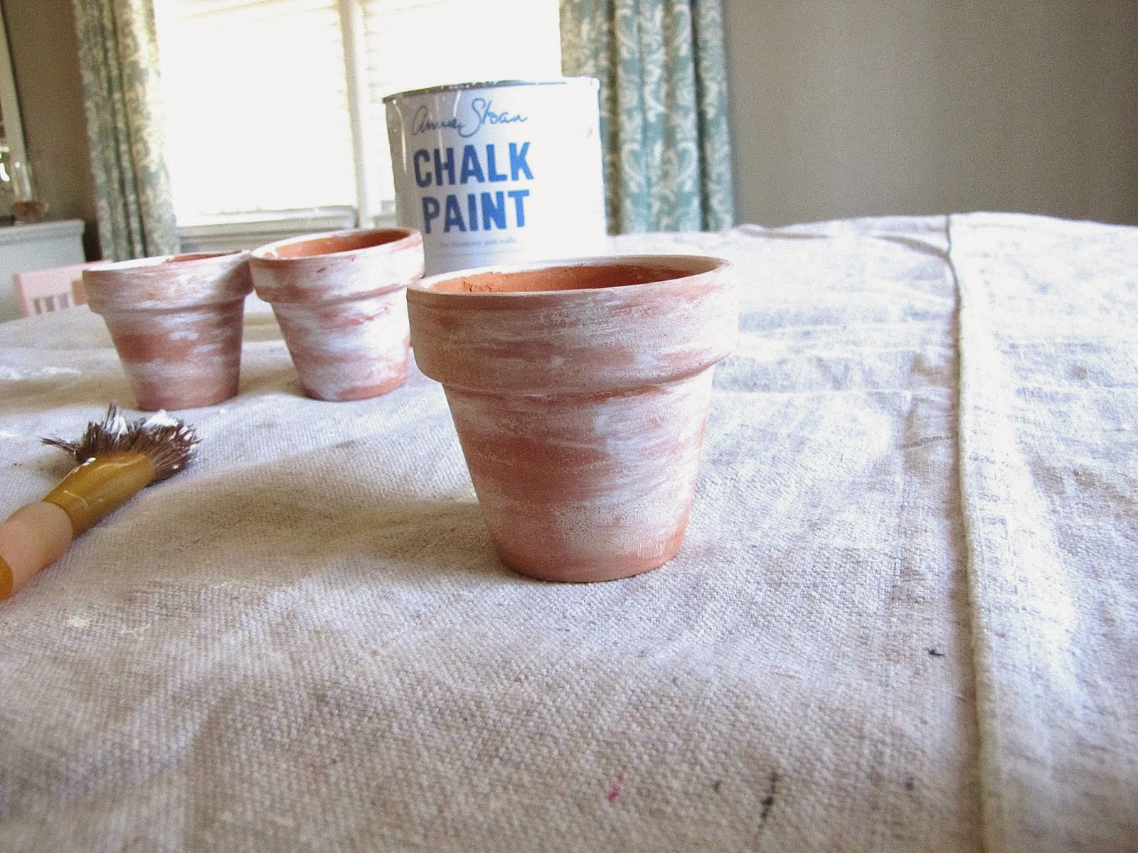how to easily age terra cotta with chalk paint
