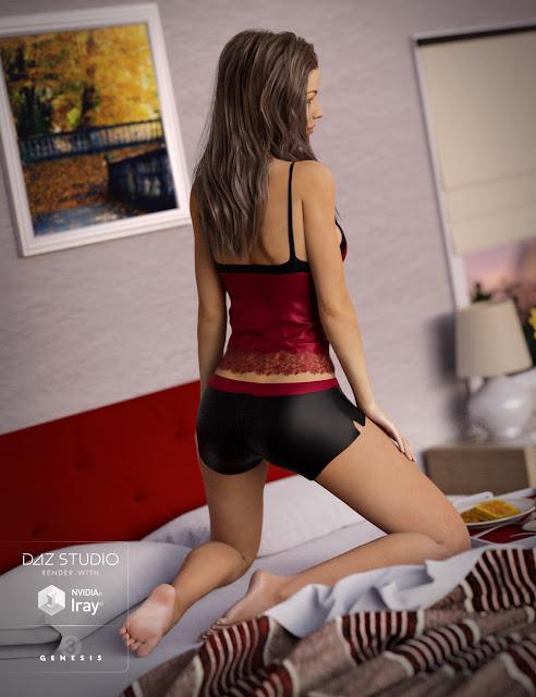 Breakfast In Bed Pajamas for Genesis 3 Female