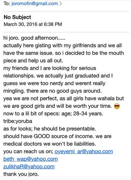 Three Female Medical Doctors in Search of Serious Relationships...See Their Contacts