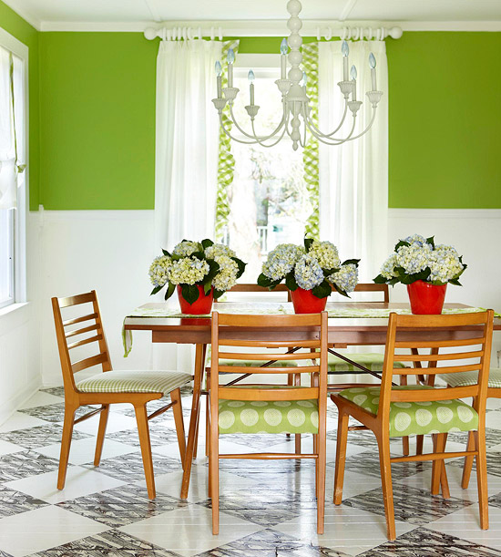 Most Lucrative Dining Room Interior Design Ideas To Beauty: New Home Interior Design: Green Color Schemes