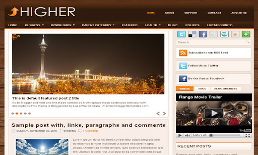 Higher Blogger Template