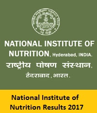 National Institute Of Nutrition Results 2017