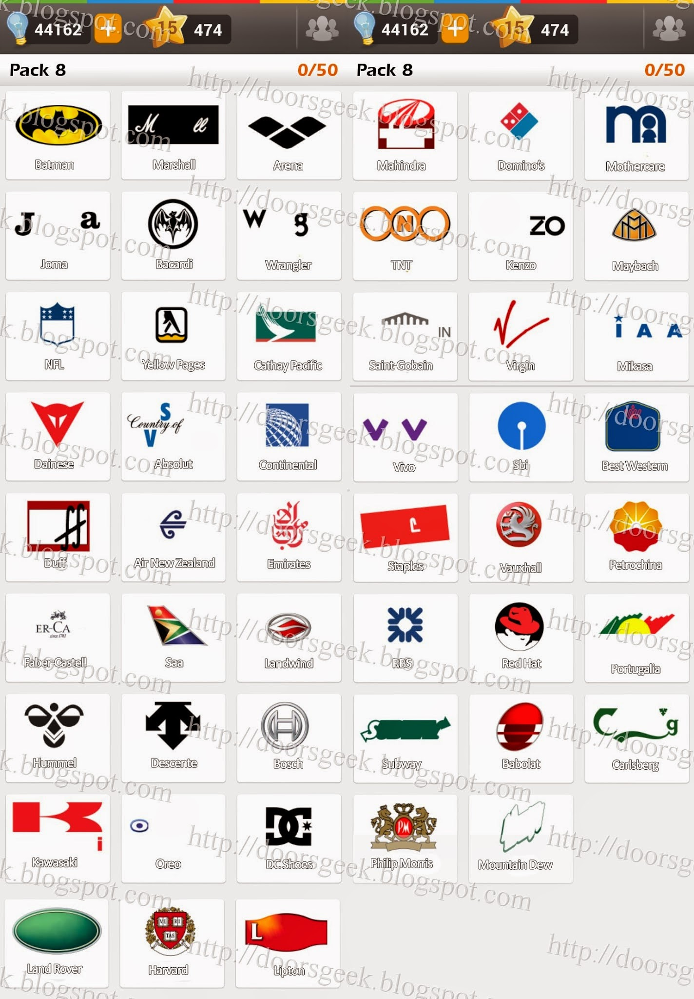 Logo Game Answers Pack 4 : answers, Game:, Guess, Brand, [Regular], Doors