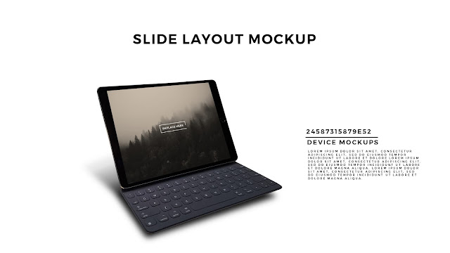 Perspective Macbook Pro Screen Mockup PowerPoint Template