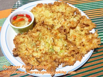 Ukoy na Alamang - Recipe