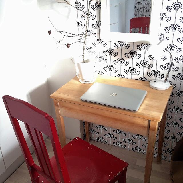 työpiste, tuoli, pöytä, sisustus