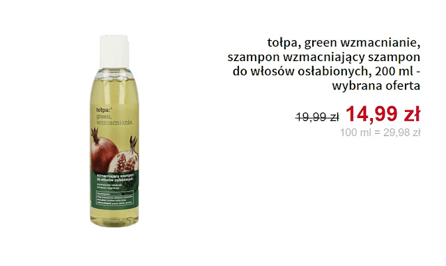szampon wzmacniający do włosów osłabionych Tołpa