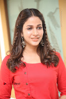 Actress Lavanya Tripathi Latest Pos in Red Dress at Radha Movie Success Meet .COM 0141.JPG