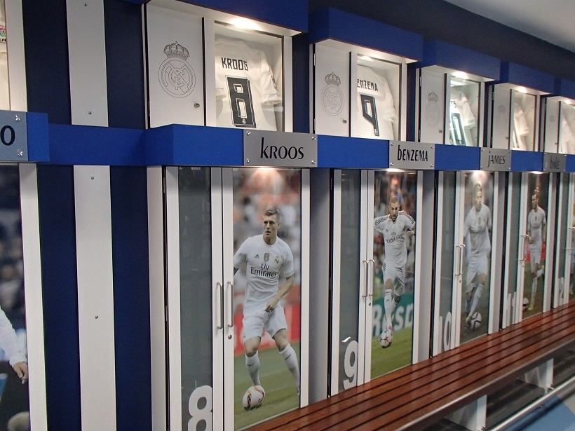 Szatnia piłkarzy Realu Madryt - fot. Tomasz Janus / sportnaukowo.pl