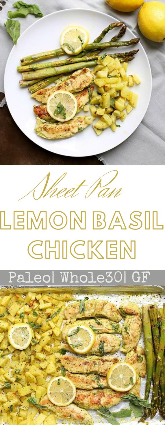 ONE SHEET PAN LEMON BASIL CHICKEN