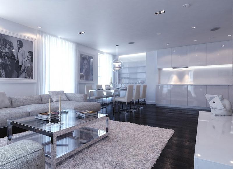 White Gloss Living Room Furniture Ebay