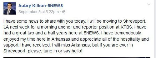 Arkansas TV NEWS: September 2015