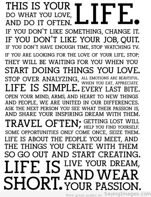 Live Your Life Crazy Quotes: Inspirational Life Quotes, Life Quotes