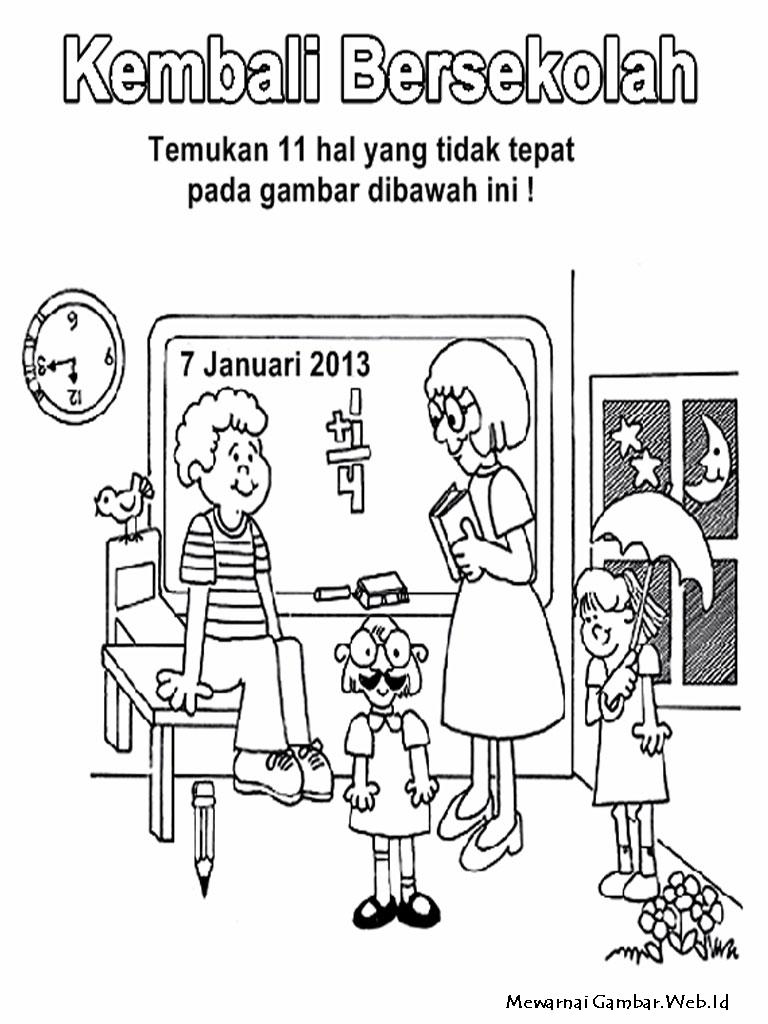 Mewarnai Hari Pendidikan Nasional  Mewarnai Gambar