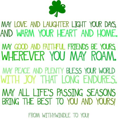 Here Is St. Patricku0027s Day Saying To You And Your Friends And Family