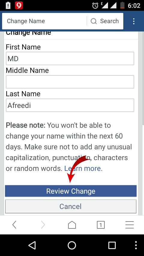 how to change the username of facebook