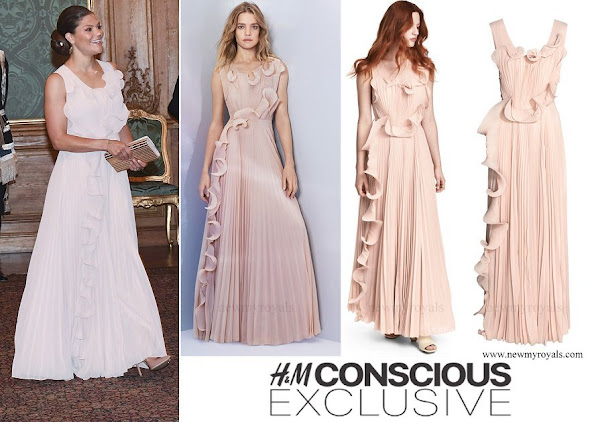 Crown Princess Victoria wore H&M Conscious Exclusive Dress