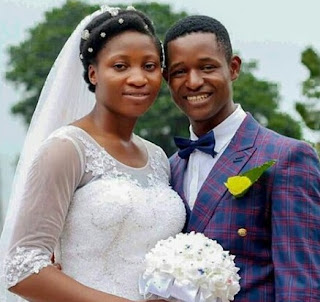 Photos: Meet pretty Nigerian bride who wore absolutely no makeup or jewelery on her wedding day