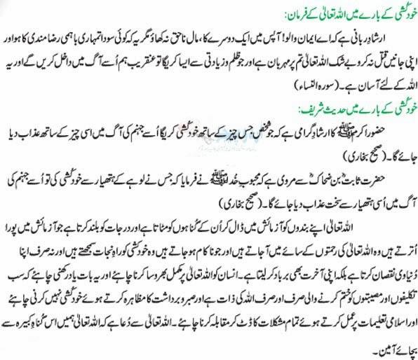 Khudkushi In Islam
