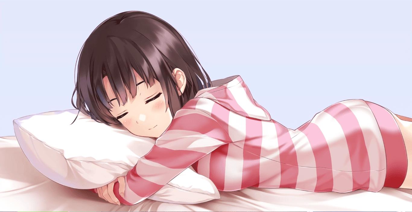 Anime Girl 加藤惠 Sleeping Loop 无缝循环(1080P) [Wallpaper Engine Anime]