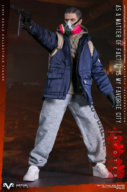 osw.zone Tom Clancy's The Division is an online-open third-person shooter video game.  VTS Toys (Vm-022) 1/6 scale The Darkzone Rioter 12-inch action figure with Molotov cocktail