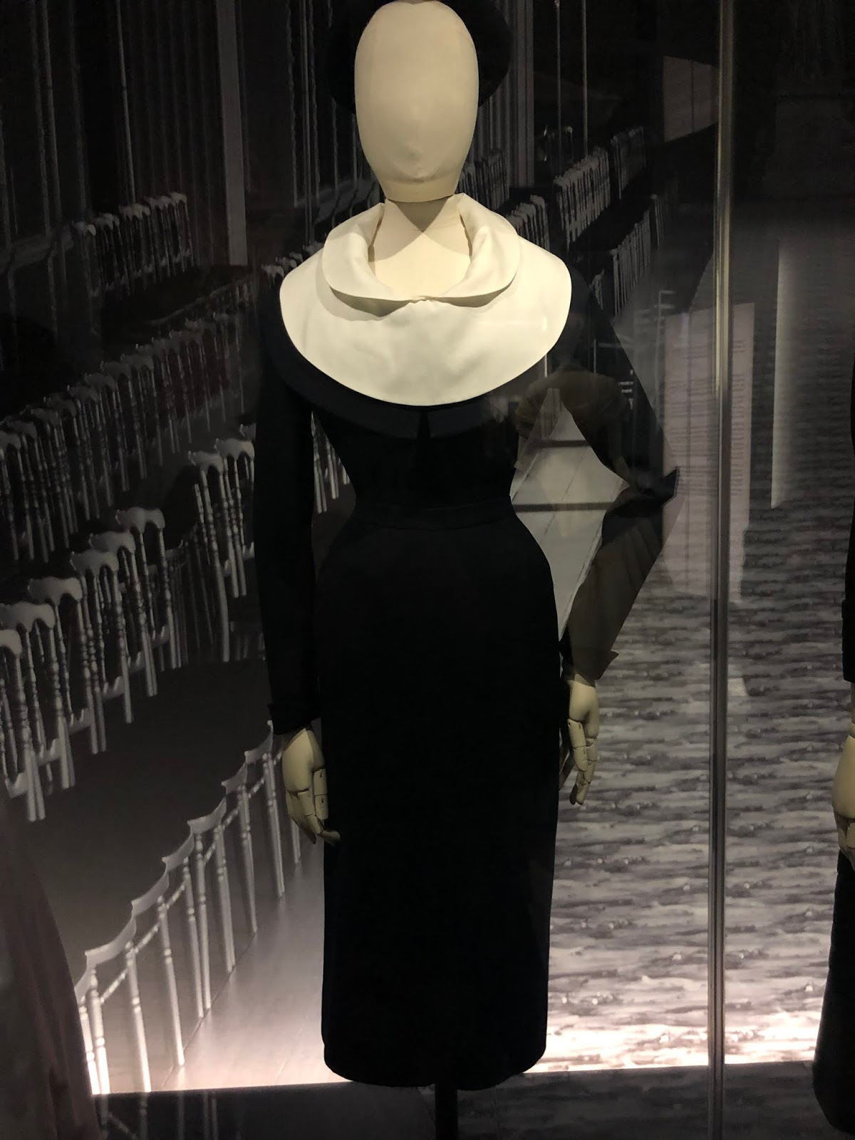 christian dior exhibition v and a black dress