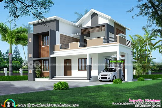 2230 sq-ft 4 bedroom mixed roof home