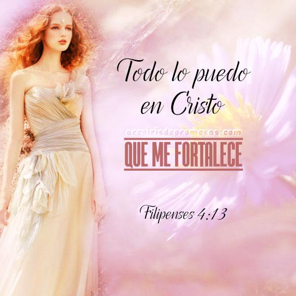 todo lo puedo en cristo reflexiones cristianas con imágenes arcoiris de promesas