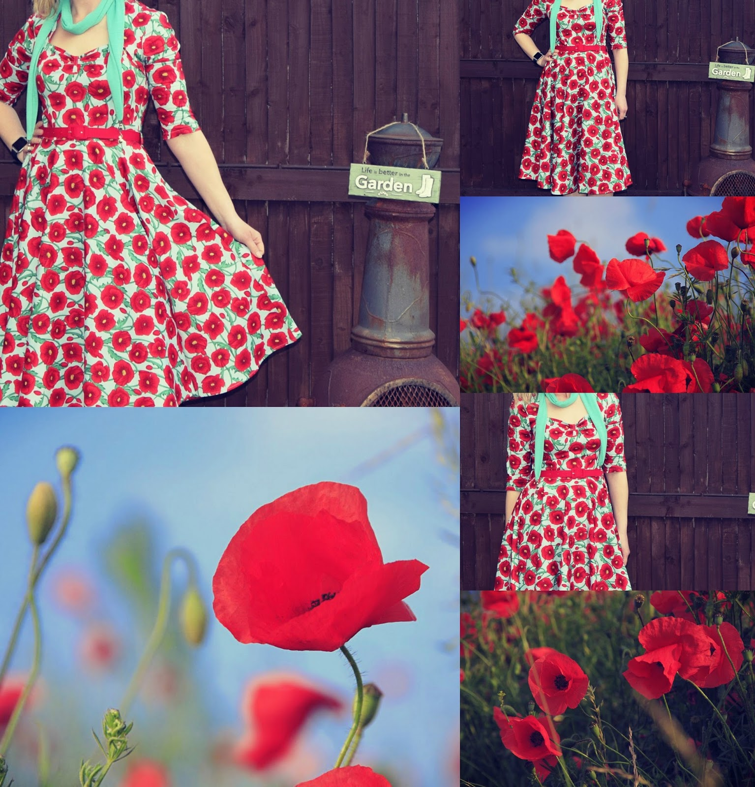 50's Poppy Dress That Just Pop's Out The Colour Red