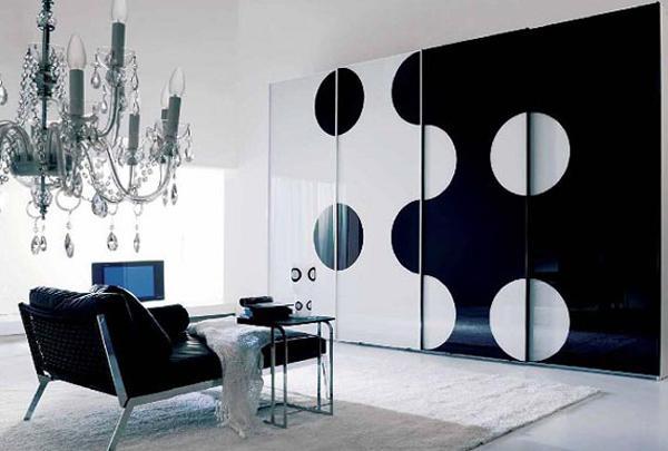 Ruang Tamu Gelap dengan Motif Warna Hitam
