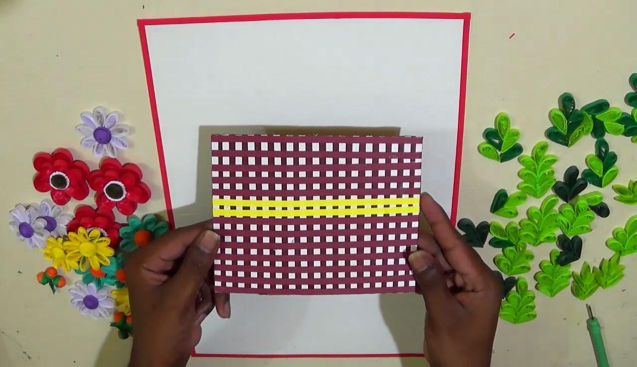 Quilled Basket Part 2: Decorating Paper basket/ 3D Quilling ... | 738x1280