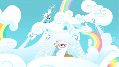 Gilda at Rainbow Dash's house