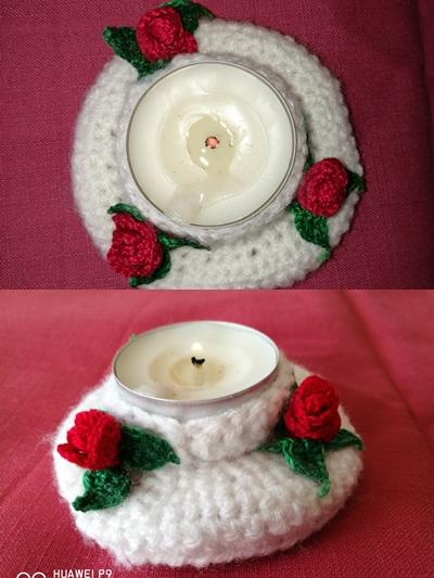 една кука плетени цветя