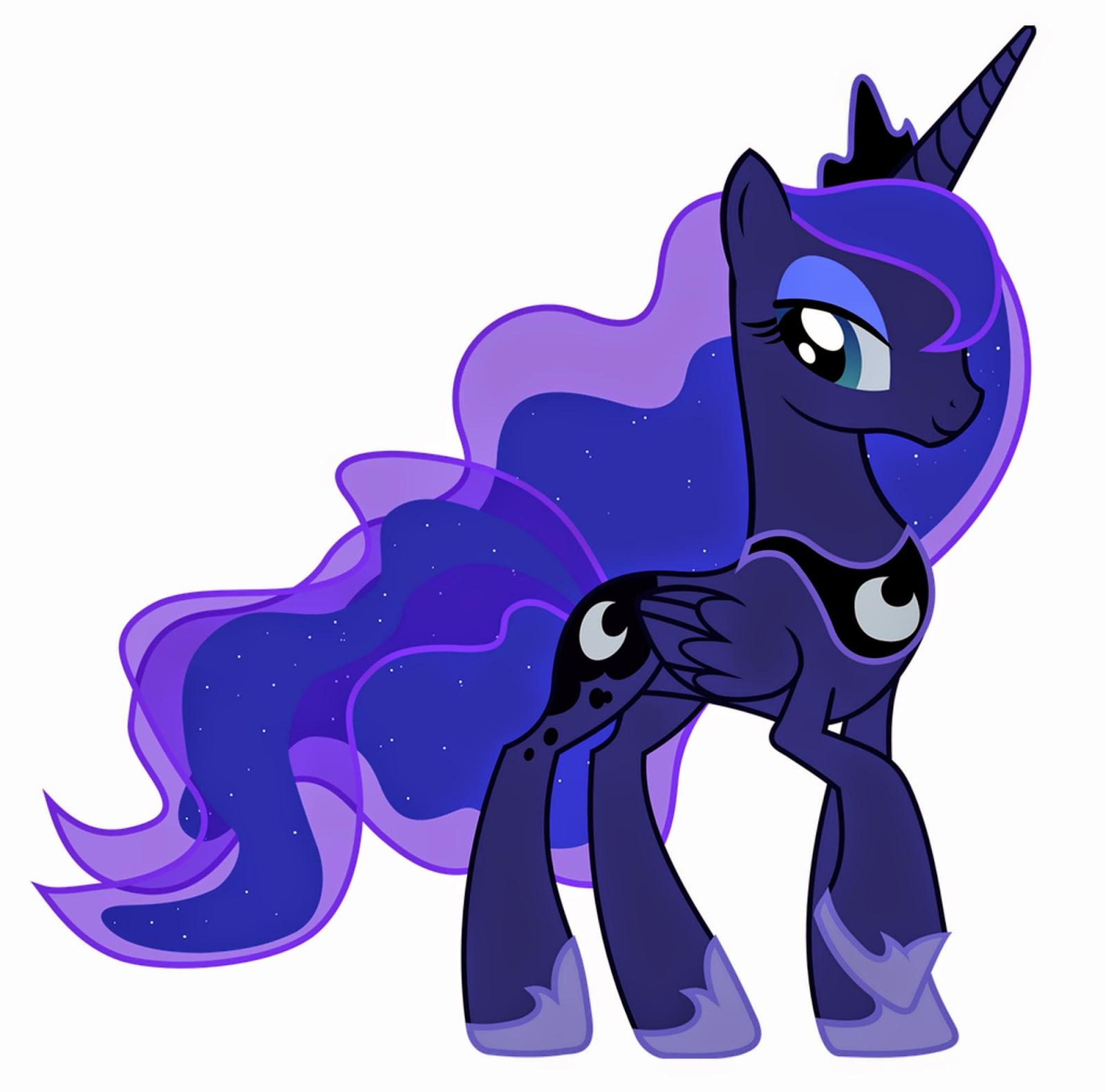 My Little Pony Dibujos para imprimir y recortar de la Princesa Luna