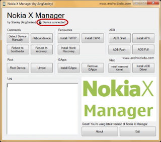 Menghubungkan Nokia X Manager