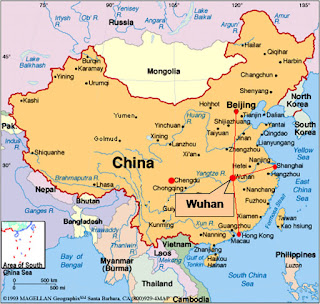 carte chine wuhan