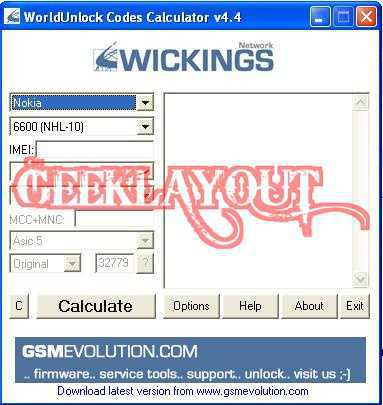 UNLOCK ANY MOBILE PHONE USING FREE WORLDUNLOCK CODES CALCULATOR 4 4