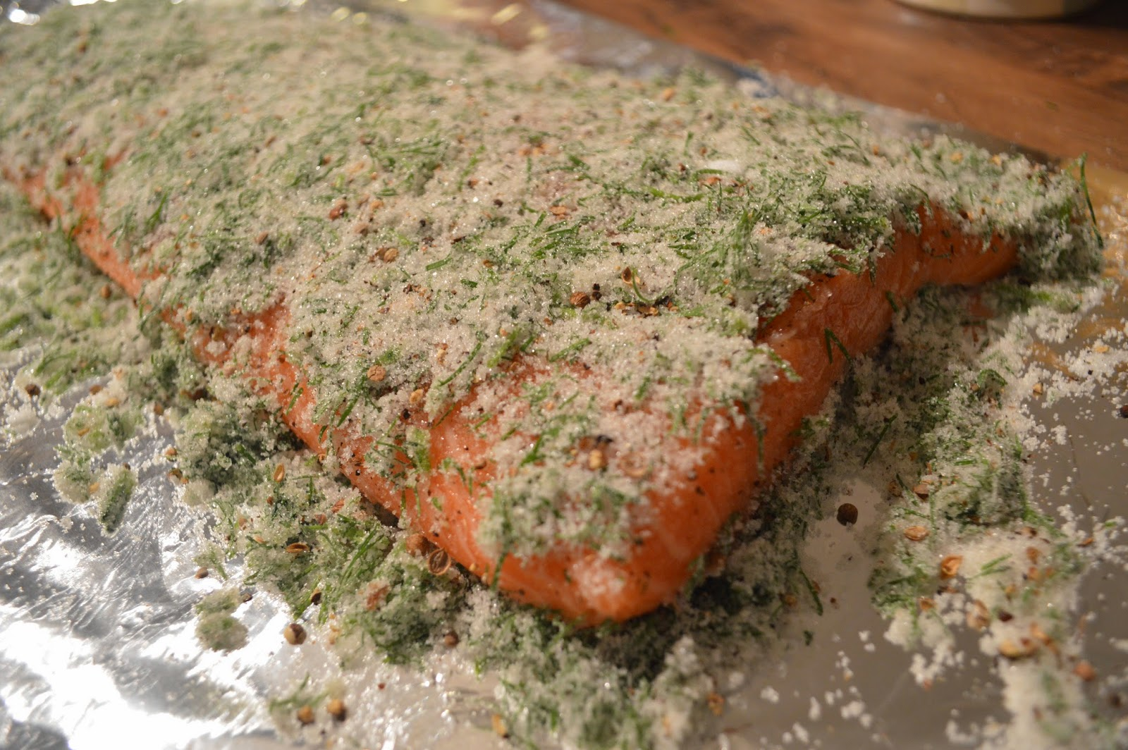 juniper and peppercorns gravlax mix, gravlax cure for salmon