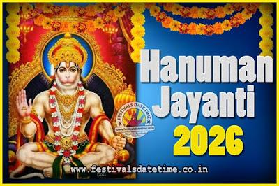 2026 Hanuman Jayanti Pooja Date & Time, 2026 Hanuman Jayanti Calendar