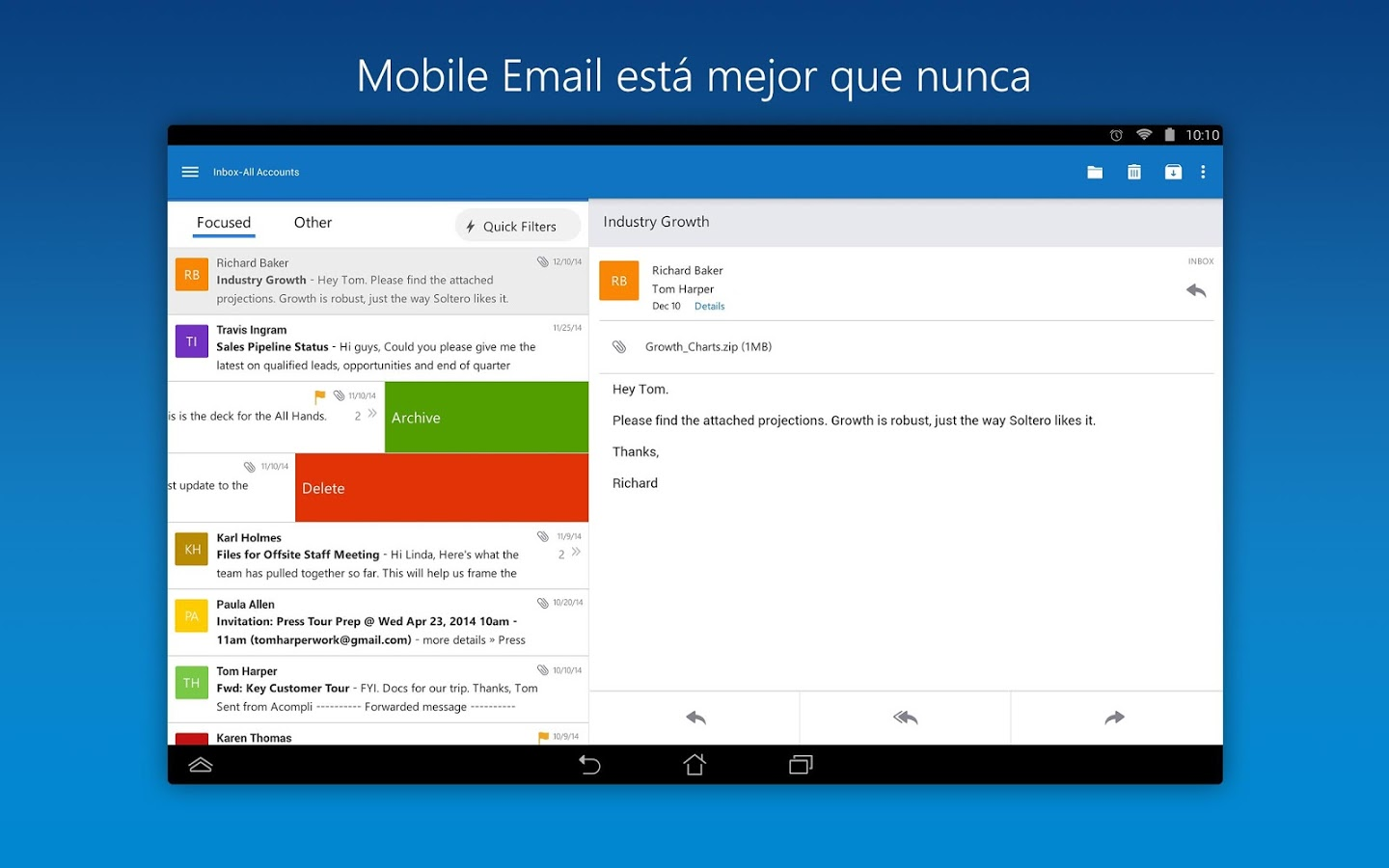 GTI-APK Android apps: Microsoft Outlook Preview v 1 0 6 APK