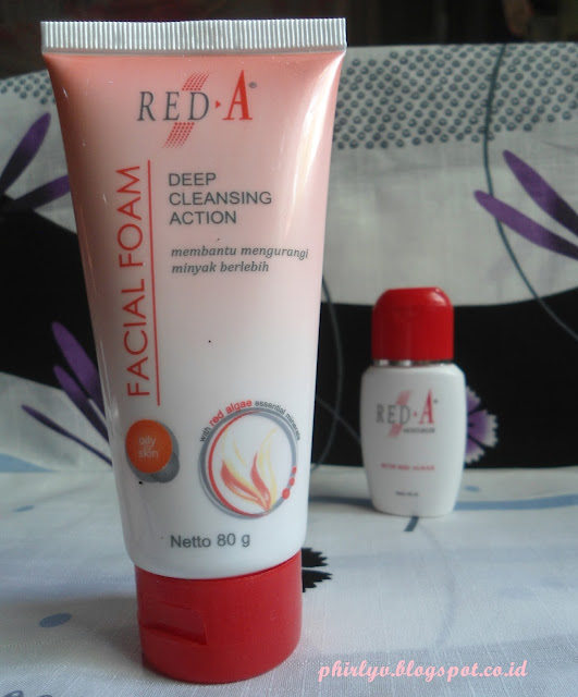 red-a facial foam for oily skin