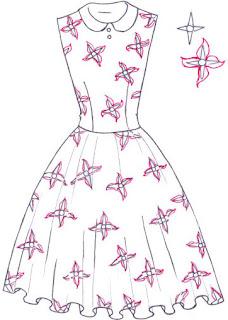 Langkah 6. Cara mudah menggambar Long Dress Motif Bunga