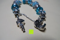 öffnen: A TE® Armband Charms Damen Kristall Blau Muranoglas Blume Glasperle Mädchen Geschenk Frauen #JW-B94