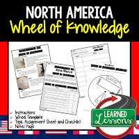 North America Activity, World Geography Activity, World Geography Interactive Notebook, World Geography Wheel of Knowledge (Interactive Notebook)