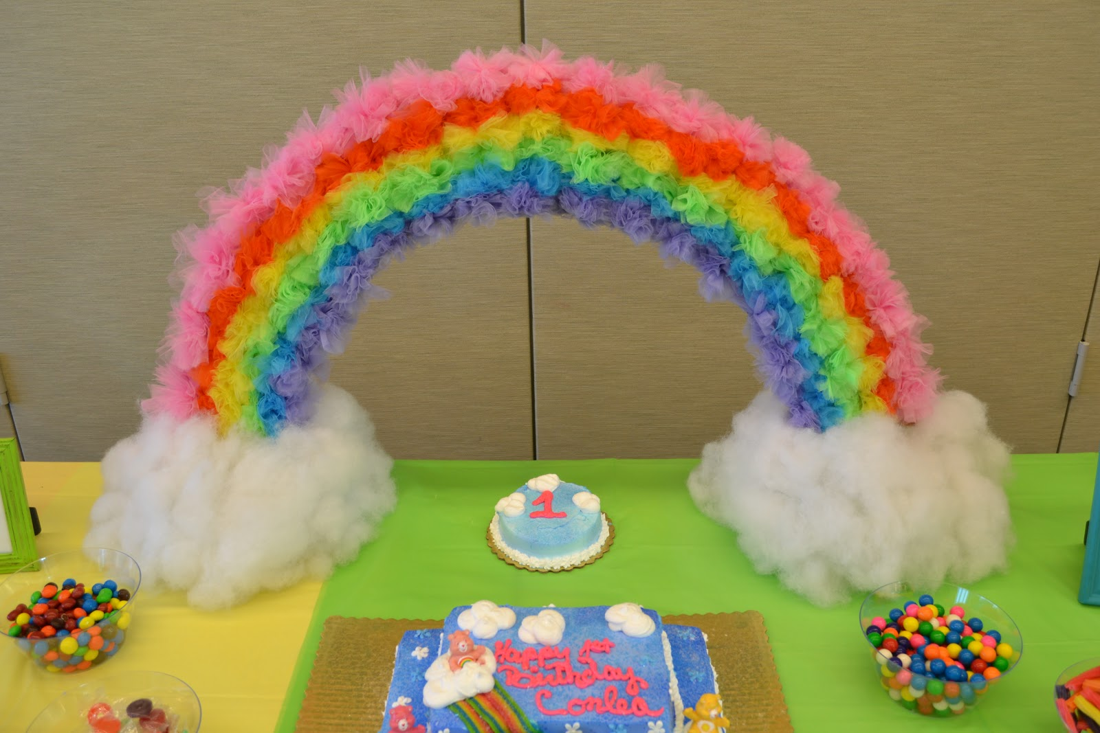 Miss Priss Purple Care Bears Party First Birthday