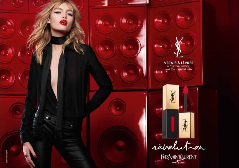 Yves Saint Laurent Beauty Spring/Summer 2017 Campaign featuring Staz Lindes
