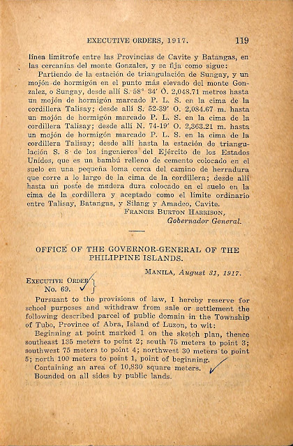 Spanish version of Executive Order No. 68 series of 1917.